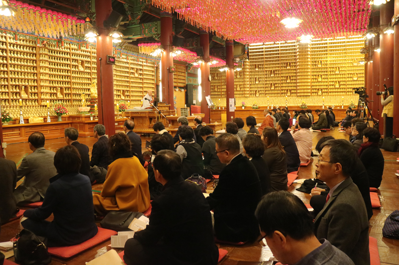 불기2562(2018)계율산람법회 입재식