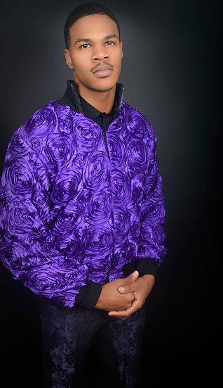 Rossette Bomber Jacket Collar