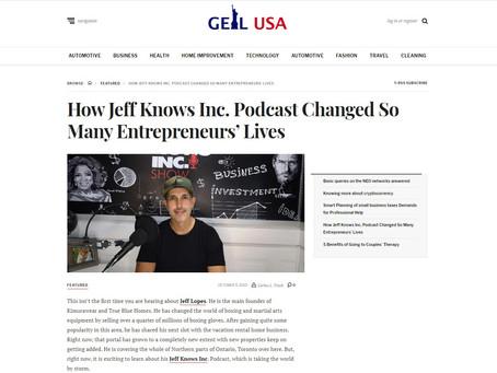 Jeff Knows Inc Featured in Geil USA Magazine