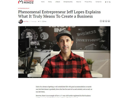 Jeff Lopes Featured in Entrepreneur Mindz magazine