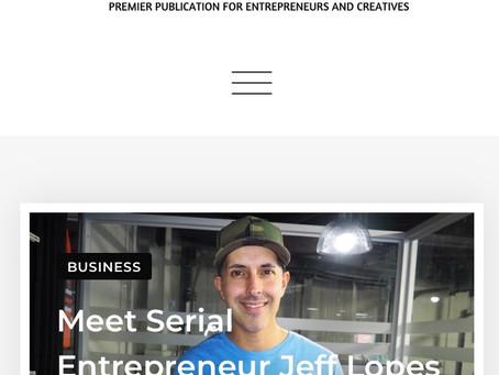 Jeff Knows Inc Host Jeff Lopes featured in VEU Magazine.