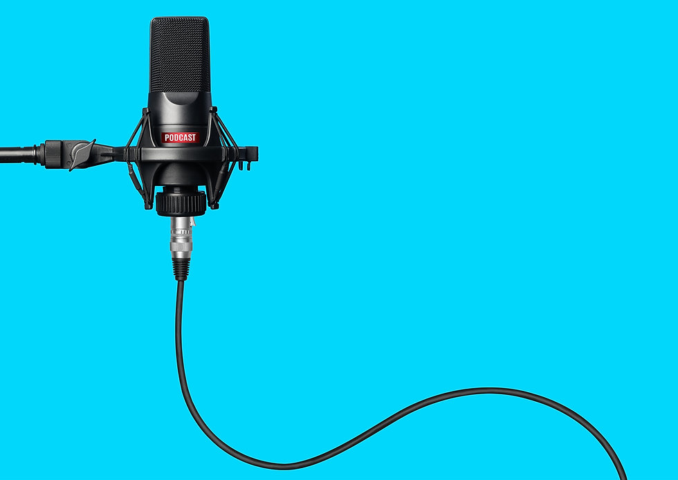 Studio microphone for recording podcasts over blue background.jpg