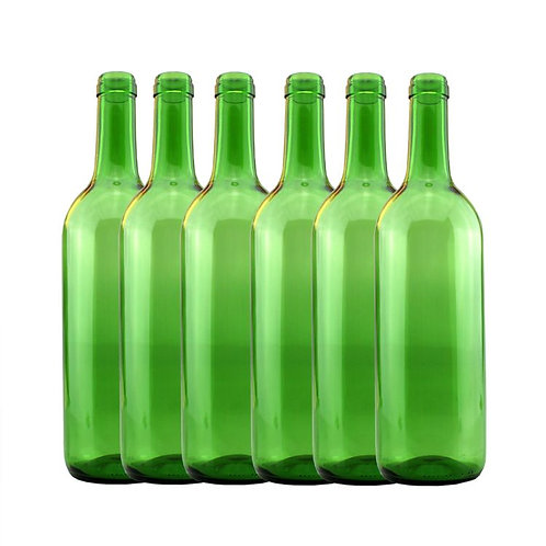 Green wine bottles 750cl (12)