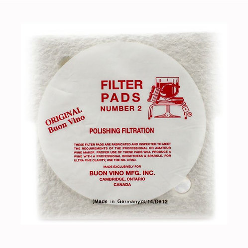 Filter pad number 2 pack of 3