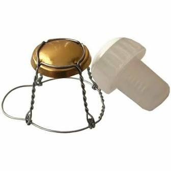 Wire cages and Stoppers for Champagne bottles 10s