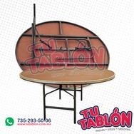 mesa redonda de 120cm de diametro cubierta de fibracell
