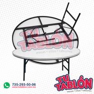 mesa redonda de 12cm de diematro cubierta de fibra de vidrio