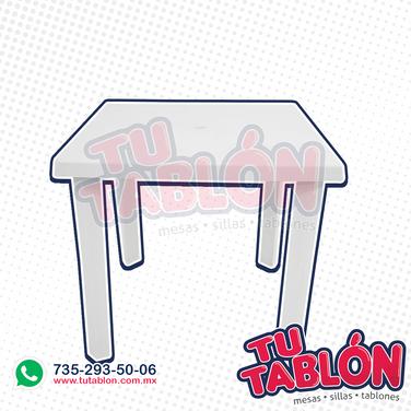 mesa cuadrada 80x80 de plastico