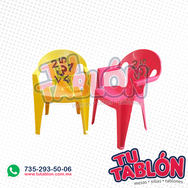silla apilable de plastico infantil modelo numeros