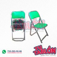 silla plegable cromada acojinada