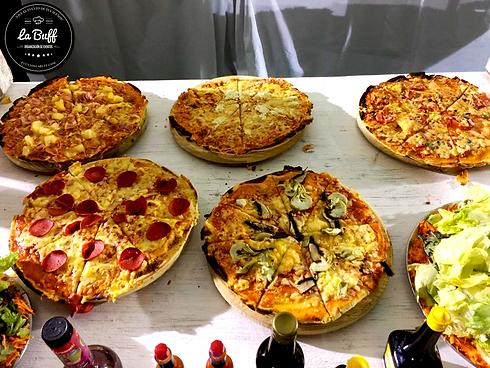 Buffete de pizzas para eventos