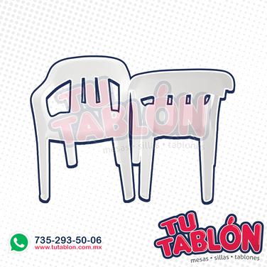 silla de plastico apilable clasica
