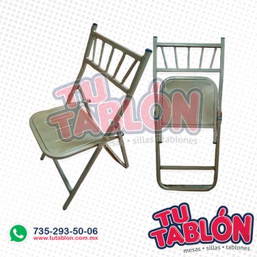 silla tiffany plegable asiento laminado