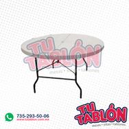Mesa redonda 150cm de diametro cubierta de plastico inflado