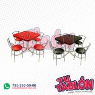 Juego de mesa para restaurante y silla