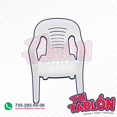 silla de plastico apilable cancunn