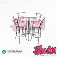 Juego de mesa y banco periquero cromado
