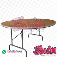 Mesa redonda 150cm de diametro cubierta de fibracel