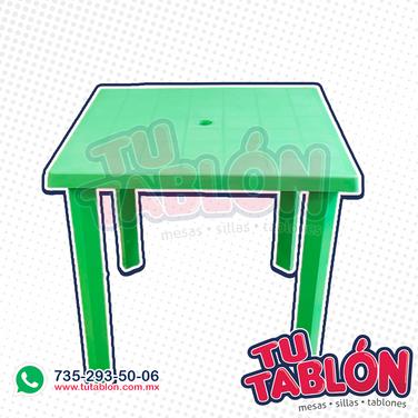 mesa 80x80 plastico verde