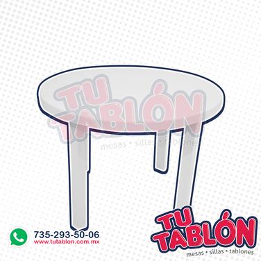 mesa redonda de plastico 100cm de diametro