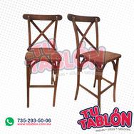 silla madera alta