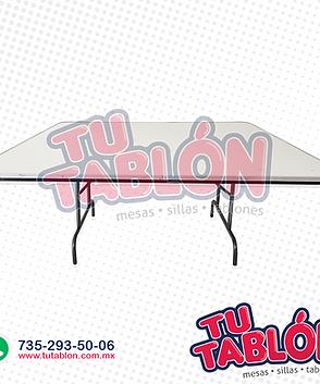 Mesa cudrada 150x150 cm cubierta de fibr