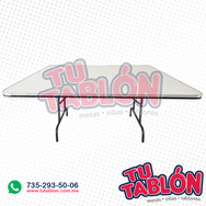 Mesa cudrada 150x150 cm cubierta de fibra de vidrio