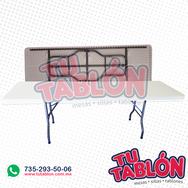 tablón 244x76cm cubierta de plástico