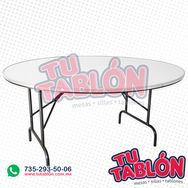Mesa redonda 150cm de diametro cubierta de fibra de vidrio