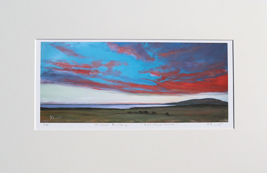 """""""Red Cloud Sunset """" mounted limited edition print"""