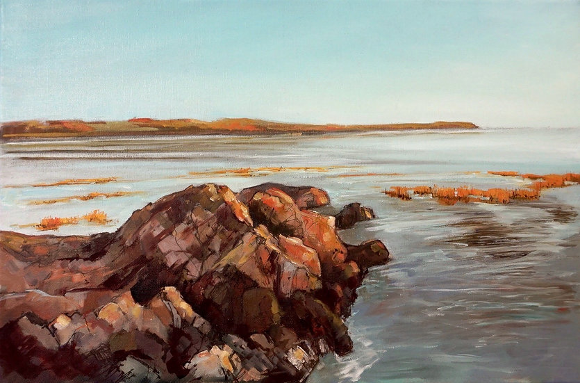 "Richard Brinley ""At The Turn Of The Tide"" 40cm x 60cm Oil On Canvas"