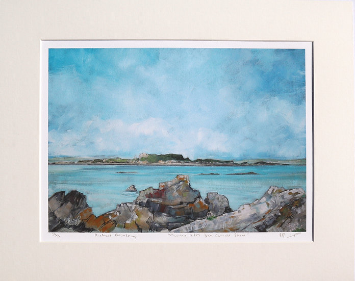 """Murray Isles from Carrick Shore "" mounted limited edition print"