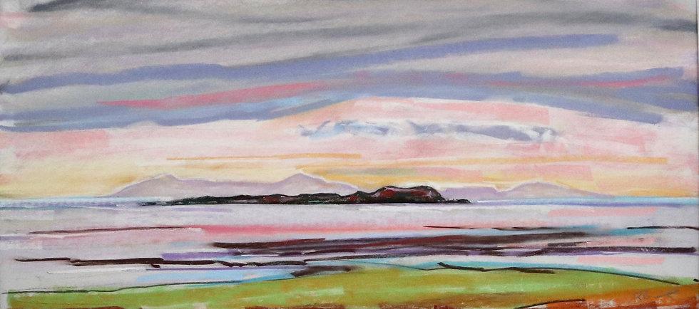 """Isles of Man and Fleet "" Pastel by Richard Brinley"