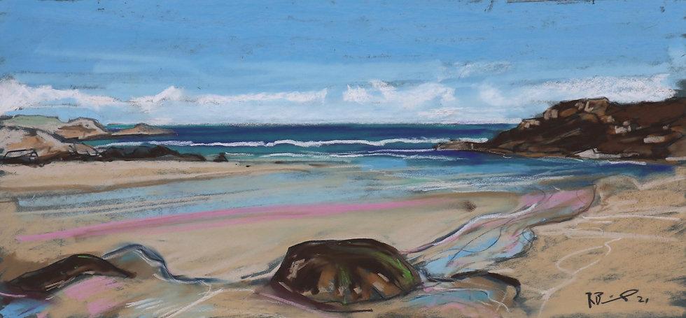 """""""North Uist Beach """" Pastel by Richard Brinley"""