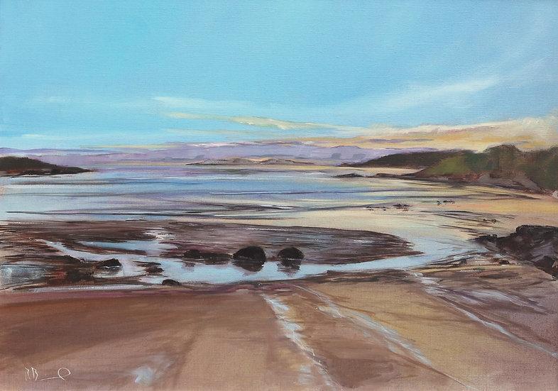"R. Brinley ""Dusk, Brighouse Bay"" 50 x 70 cm oil on canvas"