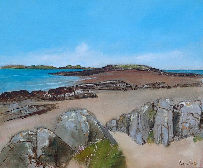 """R. Brinley  """"Early Summer , Mossyard"""" 46 x 54cm oil on canvas"""