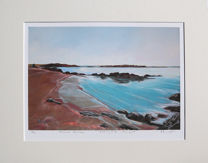 """Ebbing Tide , Mossyard "" mounted limited edition print"