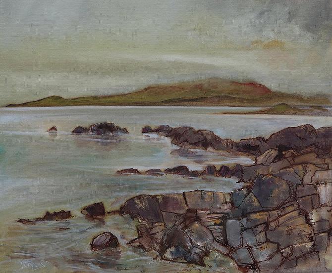"R. Brinley ""Winter, Fleet Estuary"" 50cm x 60cm oil on canvas"