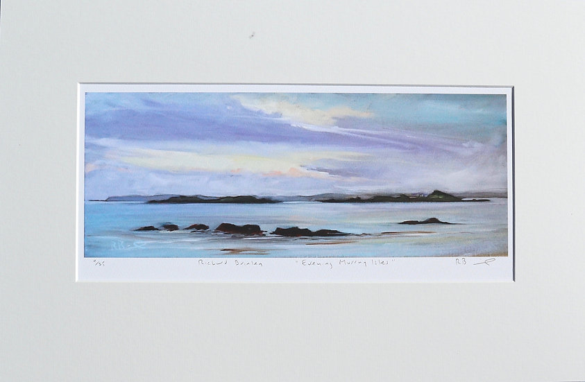 """""""Evening Murray Isles """" mounted limited edition print"""