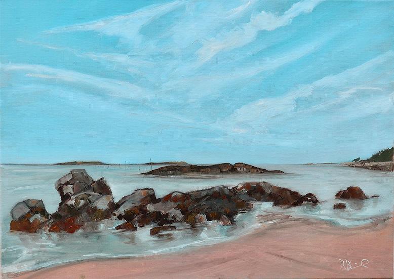 "Richard Brinley ""Laundry Bay , Cardoness"" 30 x 42cm print"
