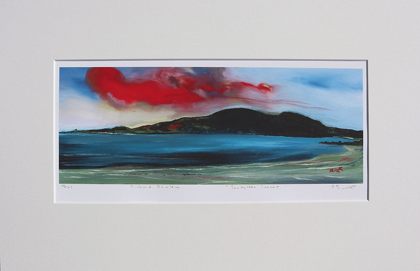 """Sandgreen Sunset "" mounted limited edition print"
