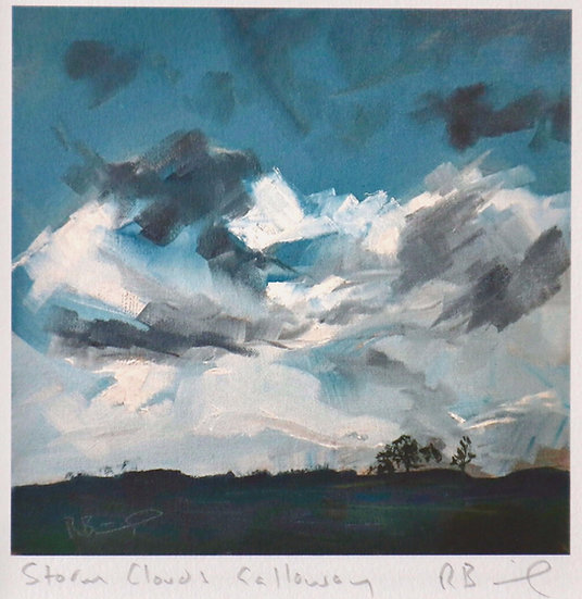 """ Storm Clouds , Galloway""  Richard Brinley mini Giclee print"