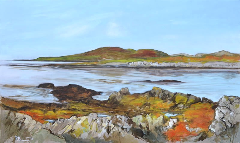 """Carrick Shore 2""  Richard Brinley signed Giclee Print"
