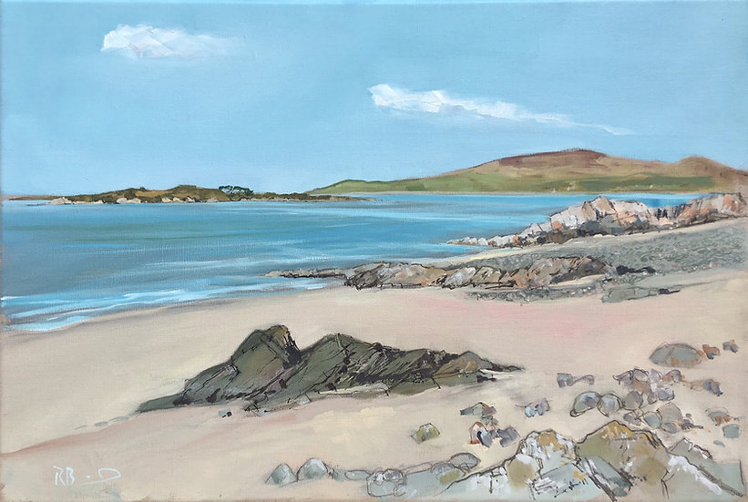 "Richard Brinley ""Bathing Hut Bay , Knockbrex""  limited edition Giclee print"