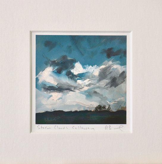 Storm Clouds Galloway mini print