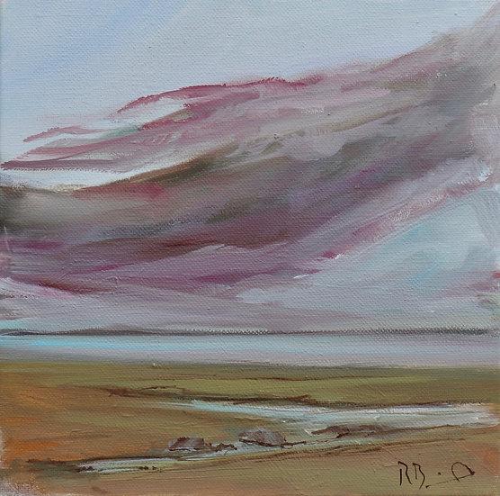 """"""" Purple Cloud """"  original oil painting by Richard Brinley"""