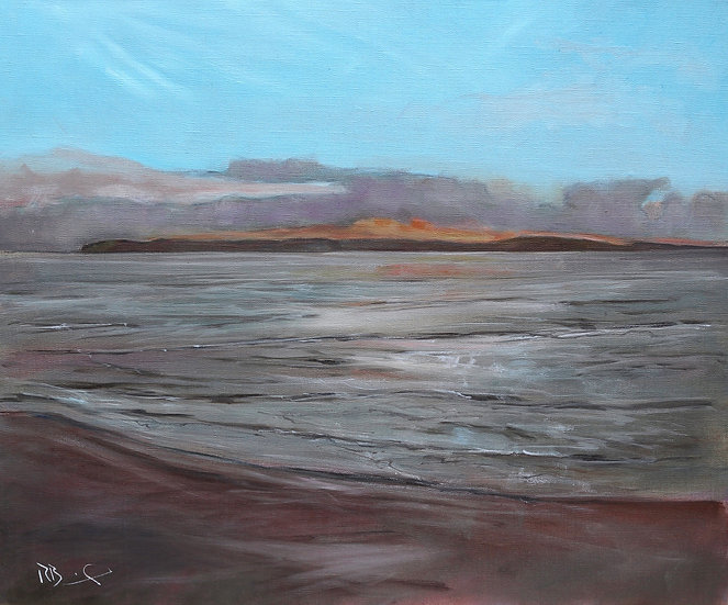 "R. Brinley  ""Fading Light , Galloway "" 50 x 60cm oil on canvas"