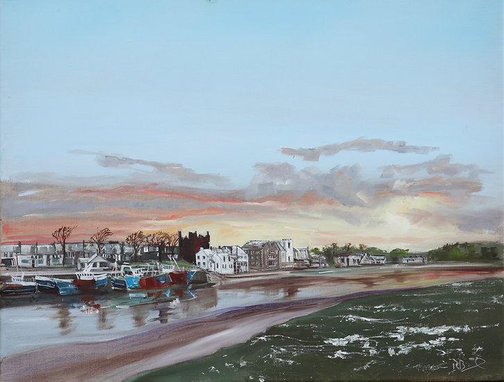 """""""Winter Dusk Kirkcudbright Harbour"""""""