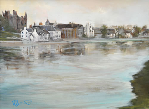 """Kirkcudbright Evening "" Richard Brinley mini Gicleeprint"
