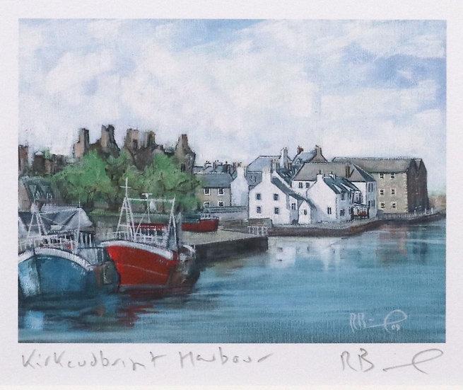 """ Kirkcudbright Harbour ""  Richard Brinley mini Giclee pri"